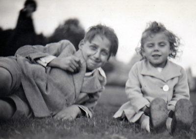Ed 1933 Avec son frère Roger