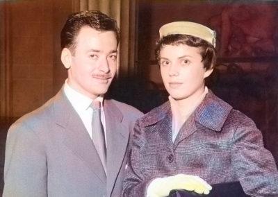 Ed 1960 Mariage Couple Colorise b